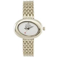 Buy Vivienne Westwood Ladies Ellipse White Gold Tone Watch VV014WHGD online