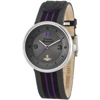 Buy Vivienne Westwood Unisex Spirit Leather Strap Watch VV020GYBK online
