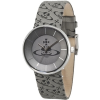 Buy Vivienne Westwood Unisex Spirit Grey Leather Strap Watch VV020SLBK online