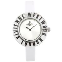 Buy Vivienne Westwood Ladies White Leather Strap Watch VV032WH online