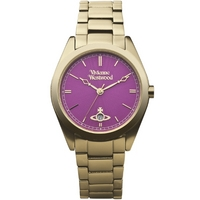 Buy Vivienne Westwood Ladies Gold Tone Steel Bracelet Watch VV049PKGD online