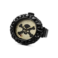 Buy Vivienne Westwood Ladies Black Skull Faced Ring Watch VV052GDBK online