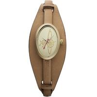 Buy Vivienne Westwood Ladies Brown Leather Strap Watch VV056GDBR online
