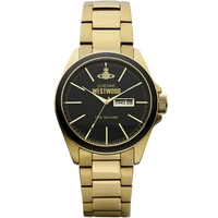 Buy Vivienne Westwood Mens Gold Tone Steel Bracelet Watch VV063GD online
