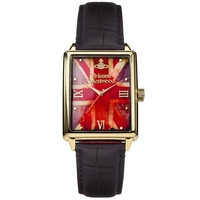 Buy Vivienne Westwood Gents Union Jack Dial Leather Strap Watch VV066GDBK online