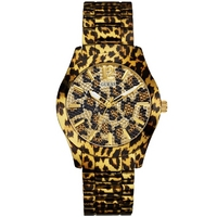 Buy Guess Ladies Leopard Print Watch W0001L2 online