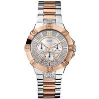 Buy Guess Ladies 2-Tone Bracelet Stone Set Watch W0024L1 online