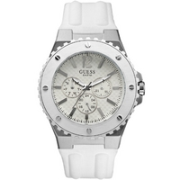 Buy Guess Gents White Rubber Strap Watch W10603G1 online