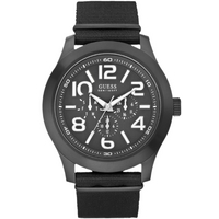 Buy Guess Gents Sports Black Material Strap Watch W11623G1 online