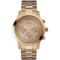 Buy Guess Ladies Chronograph Gold Tone Steel Bracelet Watch W17004L1 online
