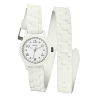 Buy Guess Ladies White Rubber Strap Watch W65023L1 online