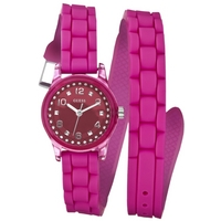 Buy Guess Ladies Pink Rubber Strap Watch W65023L3 online