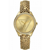 Buy Guess Ladies Stone Set Leather Strap Watch W70015L2 online