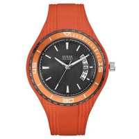 Buy Guess Gents Sport Orange Rubber Strap Watch W95143G5 online