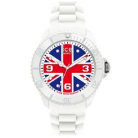 Buy Ice-Watch Gents White Rubber Strap Union Jack Dial Watch WO.UK.B.S.12 online