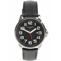 Buy Simon Carter Gents Black Leather Strap Watch WT1600BK online