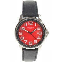 Buy Simon Carter Gents Black Leather Strap Watch WT1600R online