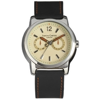 Buy Simon Carter Gents Black Leather Strap Watch WT1800C online
