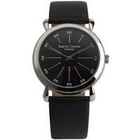 Buy Simon Carter Gents Black Leather Strap Watch WT1903BK online