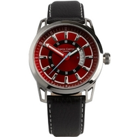 Buy Simon Carter Gents Black Leather Strap Watch WT1906R online