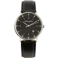Buy Simon Carter Gents Leather Strap Watch WT2201BK online