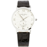 Buy Simon Carter Gents Leather Strap Watch WT2203WH online