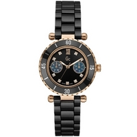 Buy Gc Ladies Black Ceramic Bracelet Watch X46105L2S online