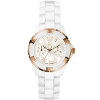 Buy Gc Ladies Mother of Pearl White Ceramic Bracelet Watch X69003L1S online