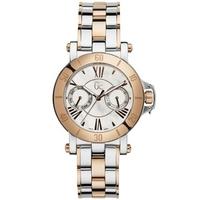 Buy Gc Ladies White Mother of Pearl 2 Tone Steel Bracelet Watch X74002L1S online