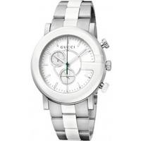 Buy Gucci Gents G Chrono Chronograph 2 Tone Bracelet Watch YA101345 online