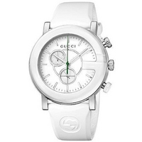 Buy Gucci G-Chrono Gents White Rubber Strap Watch YA101346 online