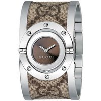 Buy Gucci Ladies G Line Steel And Material Bangle Watch YA112425 online