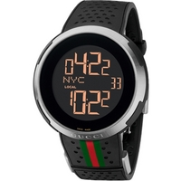 Buy Gucci I Gucci Gents Digital Rubber Strap Watch YA114103 online