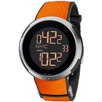 Buy Gucci I Gucci Gents Orange Digital Rubber Strap Watch YA114104 online
