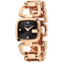 Buy Gucci G-Gucci Ladies Gold Tone Bracelet Stone Set Watch YA125512 online