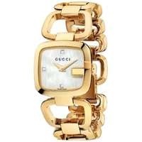 Buy Gucci G-Gucci Ladies Gold Tone Bracelet Stone Set Watch YA125513 online