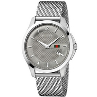 Buy Gucci G-Timeless Gents Stainless Steel Bracelet Watch YA126301 online