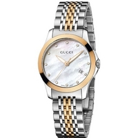 Buy Gucci G-Timeless Ladies 2 Tone Steel Bracelet Watch YA126514 online