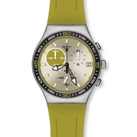 Buy Swatch Gents Irony Chrono Green Wink Watch YCS565 online