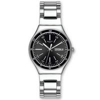 Buy Swatch Gents Irony Black Decency Bracelet Watch YGS749G online