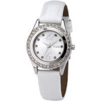 Buy Oasis Ladies White Leather Strap Watch B791 online