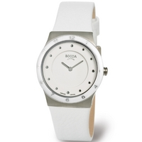 Buy Boccia Ladies White Leather Stap Watch B3202-01 online