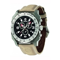 Buy Timberland Gents Stratham Brown Leather Strap Chrono Watch 13324JSUS-02 online