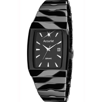 Buy Accurist Gents Black Ceramic Watch MB954B online