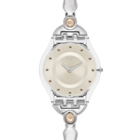 Buy Swatch Ladies Skin Salmon Pearls Watch SFK376G online