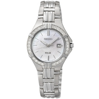 Buy Seiko Ladies Solar Crystal Set Watch SUT087P9 online