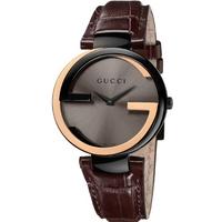 Buy Gucci Ladies Interlocking-G 18ct Gold Watch YA133304 online