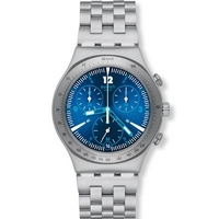 Buy Swatch Ladies Irony Chrono Rhythmic Blue Watch YCS575G online