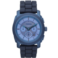 Buy Fossil Gents Blue Coated Chronograph Bracelet Watch FS4703 online