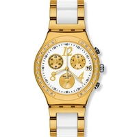 Buy Swatch Ladies Irony Chrono Dreamwhite Yellow Watch YCG407G online